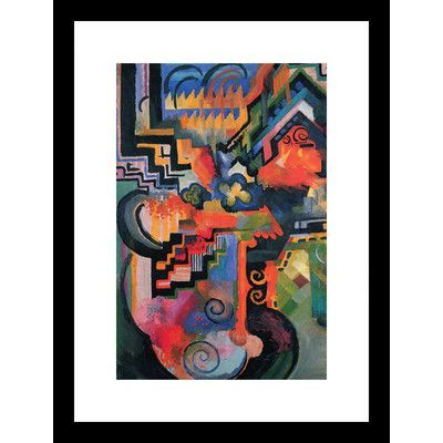 Buyenlarge Colored Composition (Homage à Sebastian Johann Bach) by August Macke Framed Painting Print