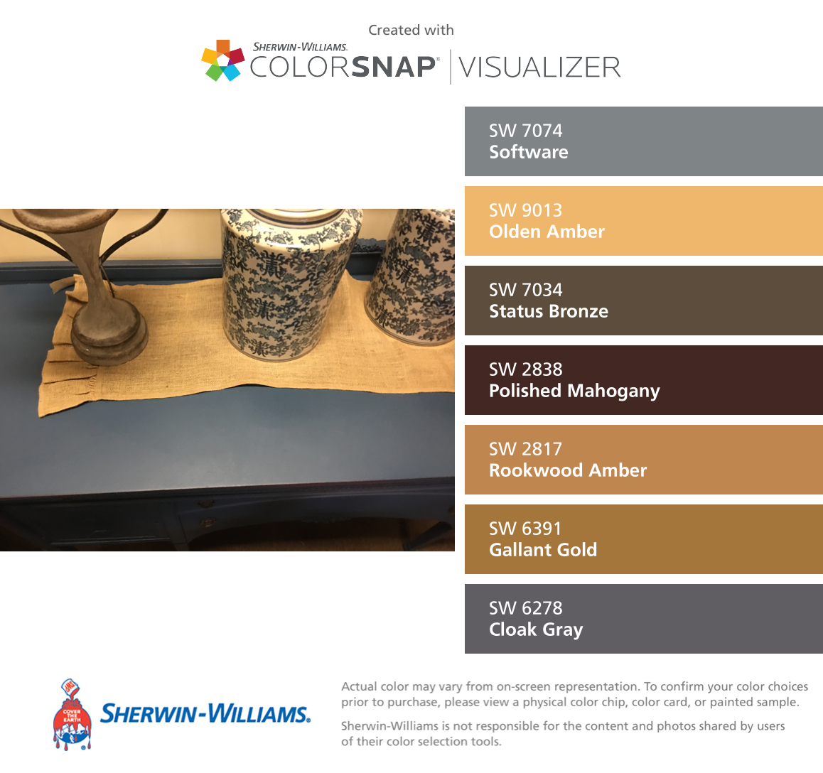 Greige Color Palette: I Found These Colors With ColorSnap Visualizer For IPhone