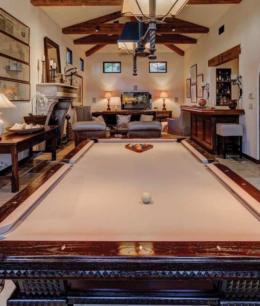 It's all fun and games until it's time to set up for your holiday dinner. 65 Rooms with a Pool Table (Man Caves Included)   Billiard ...
