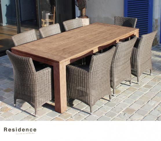 Table MEKONG en teck. Residence. | Mobilier de jardin | Pinterest ...
