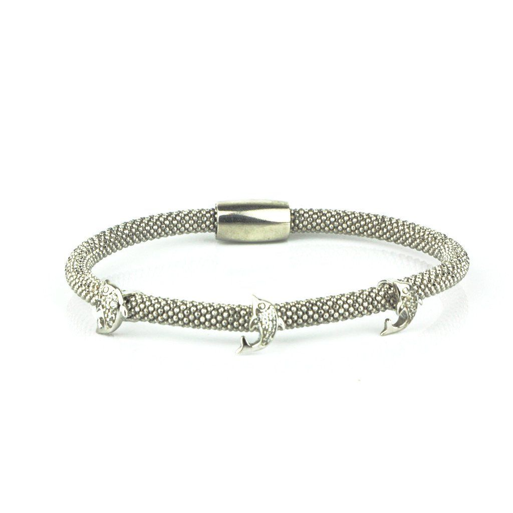 Three dolphins white gold bracelet white gold and products