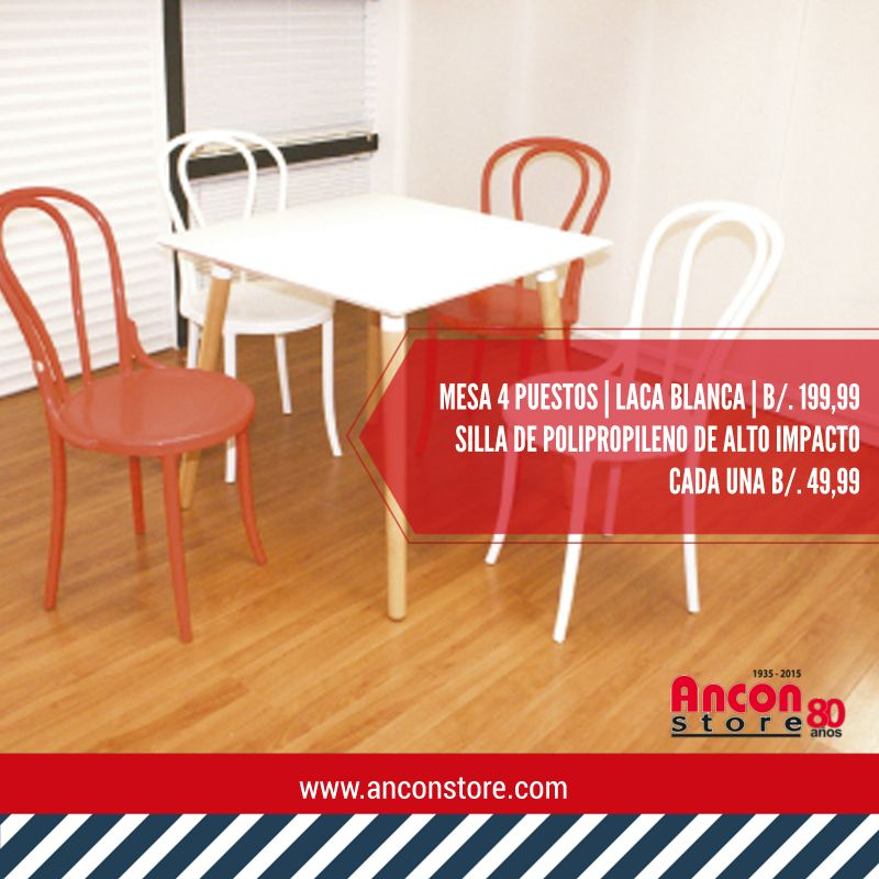 Moderno y especial para espacios peque os mesa sillas for Mesas y sillas para comedor pequeno