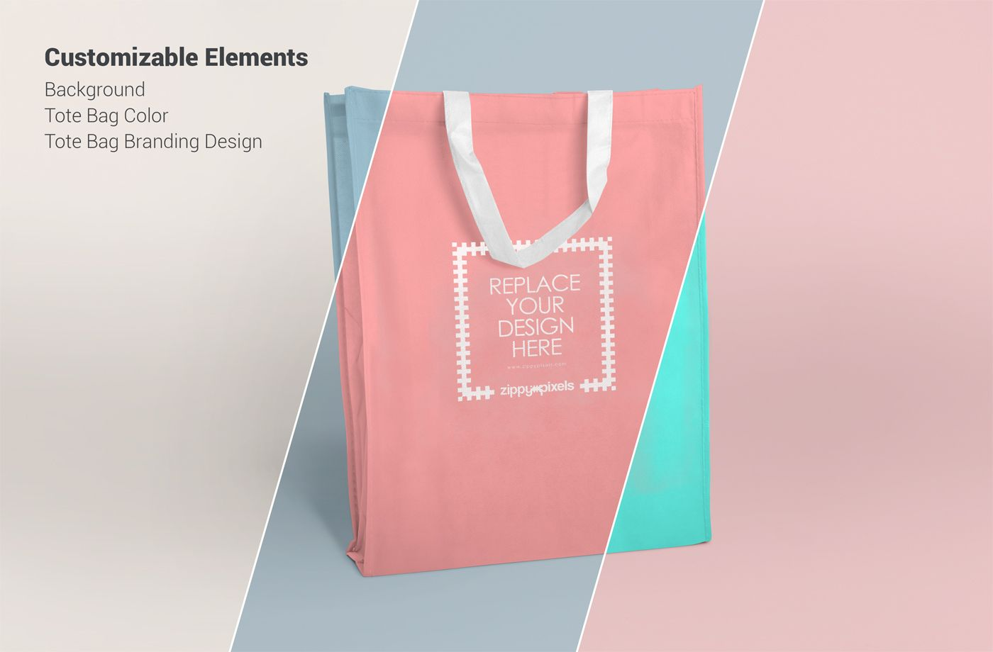 2 High Resolution Free Tote Bag Mockups For Presenting Your Brand