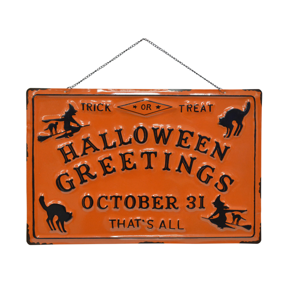 Shop for the Halloween Greetings Wall Sign by Ashland® at