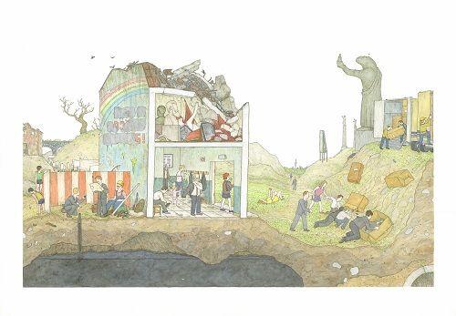 La fotografía de Fernando Maselli (Buenos Aires, Argentina, 1978) actualiza y revive un género tradicional como el bodegón. Naturalezas muertas muy vivas y llenas de actualidad, que reinterpretan su esencia. Sus paisajes inventados son fruto de la unión de fragmentos de muchas fotografías. Foto-collages de paisajes irreales creado a través de fragmentos de realidad.