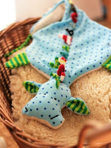 Photo of Sewing pattern pacifier dragon by Von Lange Hand