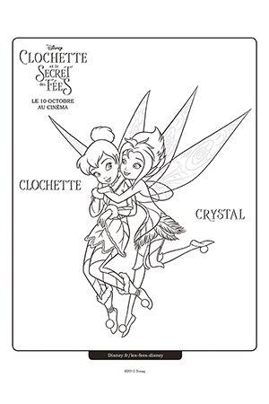 Coloriage clochette et cristal coloriage et dessin t - Clochette coloriage ...
