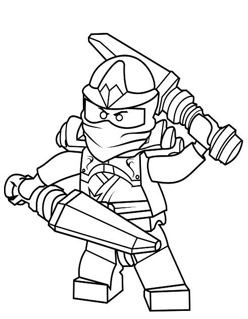 Coloriage et dessin de ninjago imprimer coloriage ninjago ninja bleu jay ninjago pinterest - Coloriage ninjago lego a imprimer ...