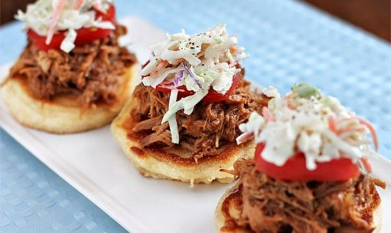 Crockpot Barbecue with Corn Cakes