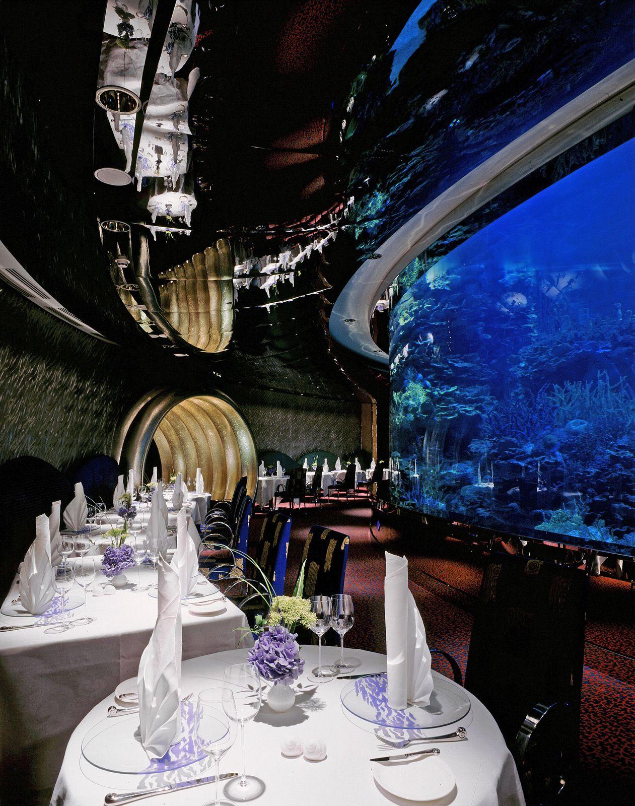 al mahara restaurat at the burj al arab hotel dubai interior rh pinterest com