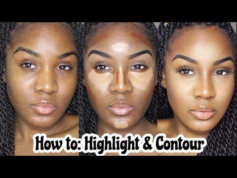 BEGINNERS: EASY HIGHLIGHT & CONTOUR TUTORIAL | Makeup For Black Women