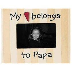 My Heart Belongs to Papa Picture Frame -