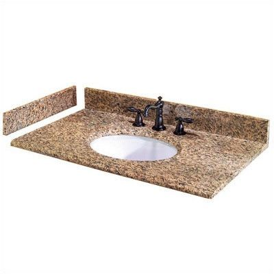 Pegasus Double Bowl 61 Single Bathroom Vanity Top Granite