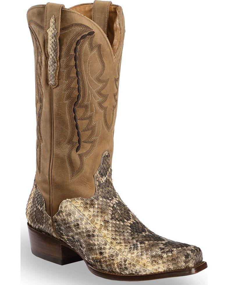 1d113d3e40fe0 El Dorado Men's Handmade Western Rattlesnake Cowboy Boots - Square ...