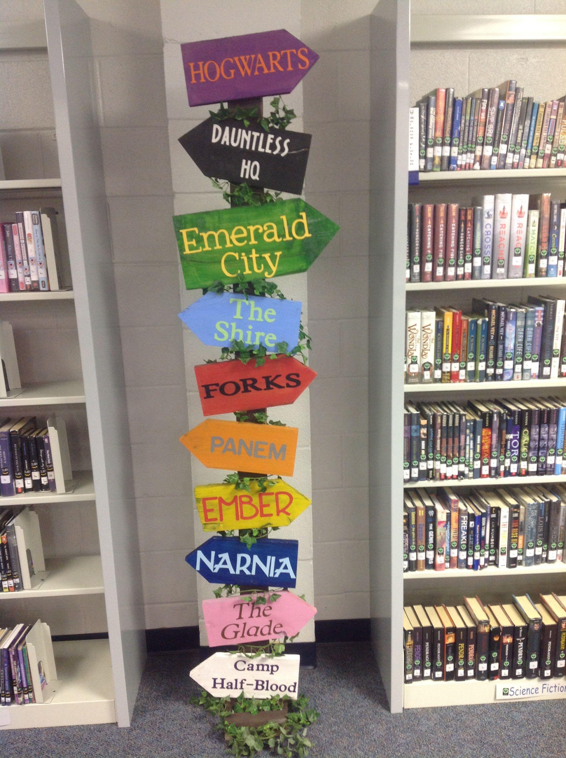 Literary Places School Library Decor Library Decor School