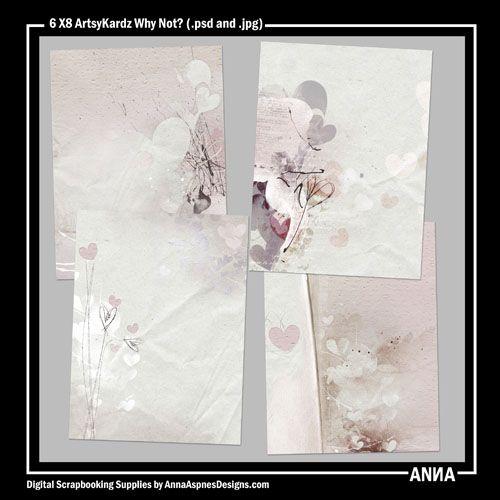 Oscraps :: Shop by Designer :: Anna Aspnes Designs :: ArtsyKardz :: 6 X 8 ArtsyKardz Why Not?
