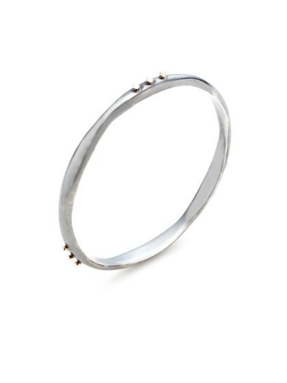 Whitney Stern  Two-Tone Dotted Wave Bangle