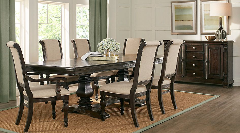 San Luis Oak 5 Pc Rectangle Dining Room Dining Room Sets Dark Wood Dining Room Sets Pub Table Sets Bar Table And Stools