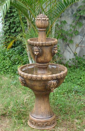 Outdoor Or Indoor 2 Tier Water Fountain For Garden Decor Or As A Yard Water Feature For Lawn Patio Hom Solar Fountain Water Fountains Outdoor Fountains Outdoor