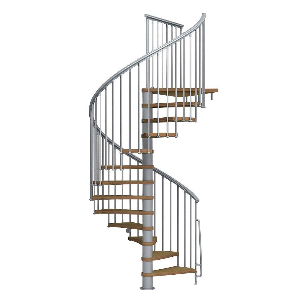 Best Arke Nice1 63 In Grey Spiral Staircase Kit K50103 640 x 480