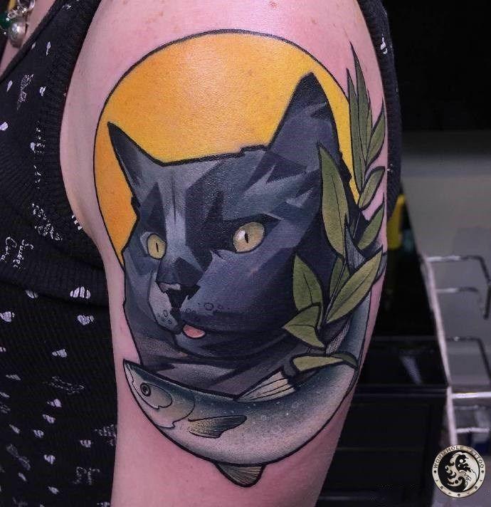 cat tattoo for women   #cattattoos #tattooedmen #tattoolife #tattooart #skinart #bodyart #upperarmtattoo #tattooedwomen #inkedwomen #tattoosforwomen