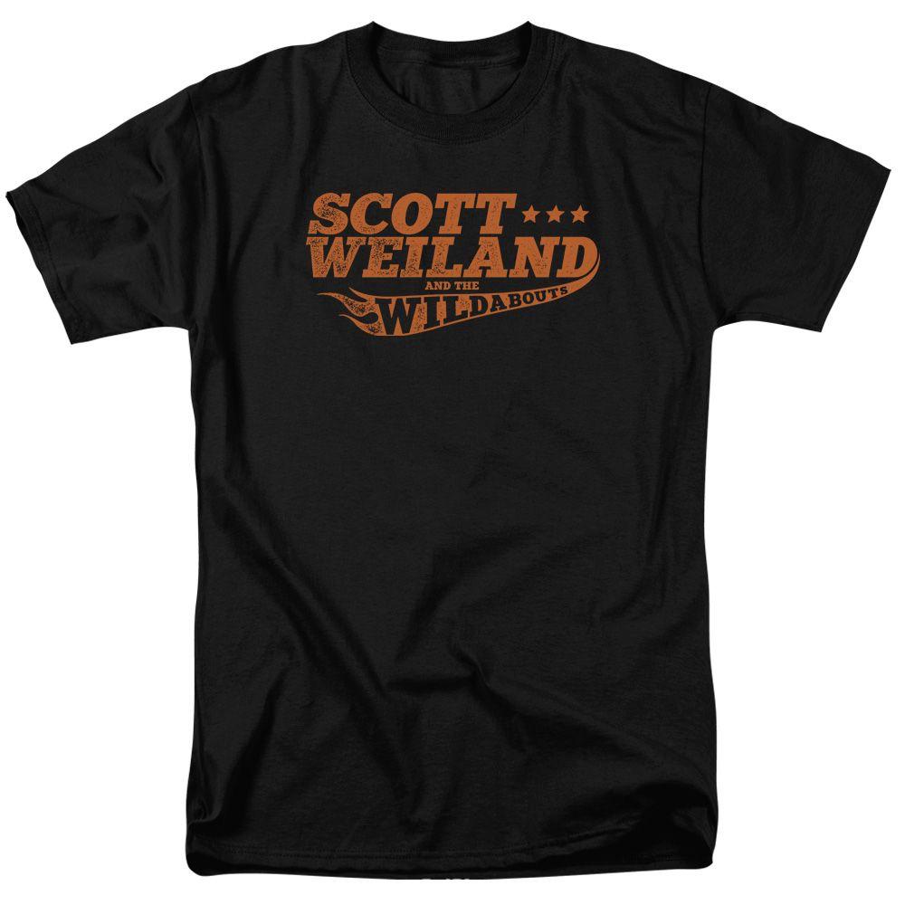 Scott Weiland Shirt Logo Black T-Shirt - Scott Weiland Logo Shirts