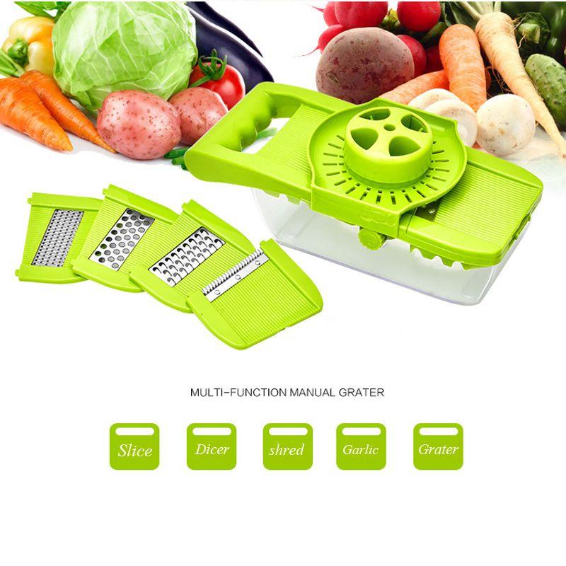 New Arrival Multifunctional Vegetable Slicer Dicer 6 Blades