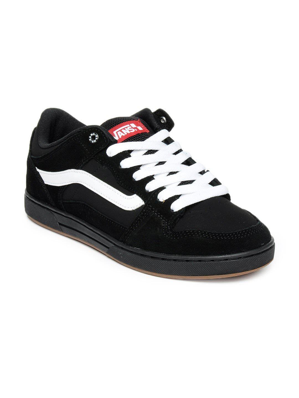 vans shoes man black