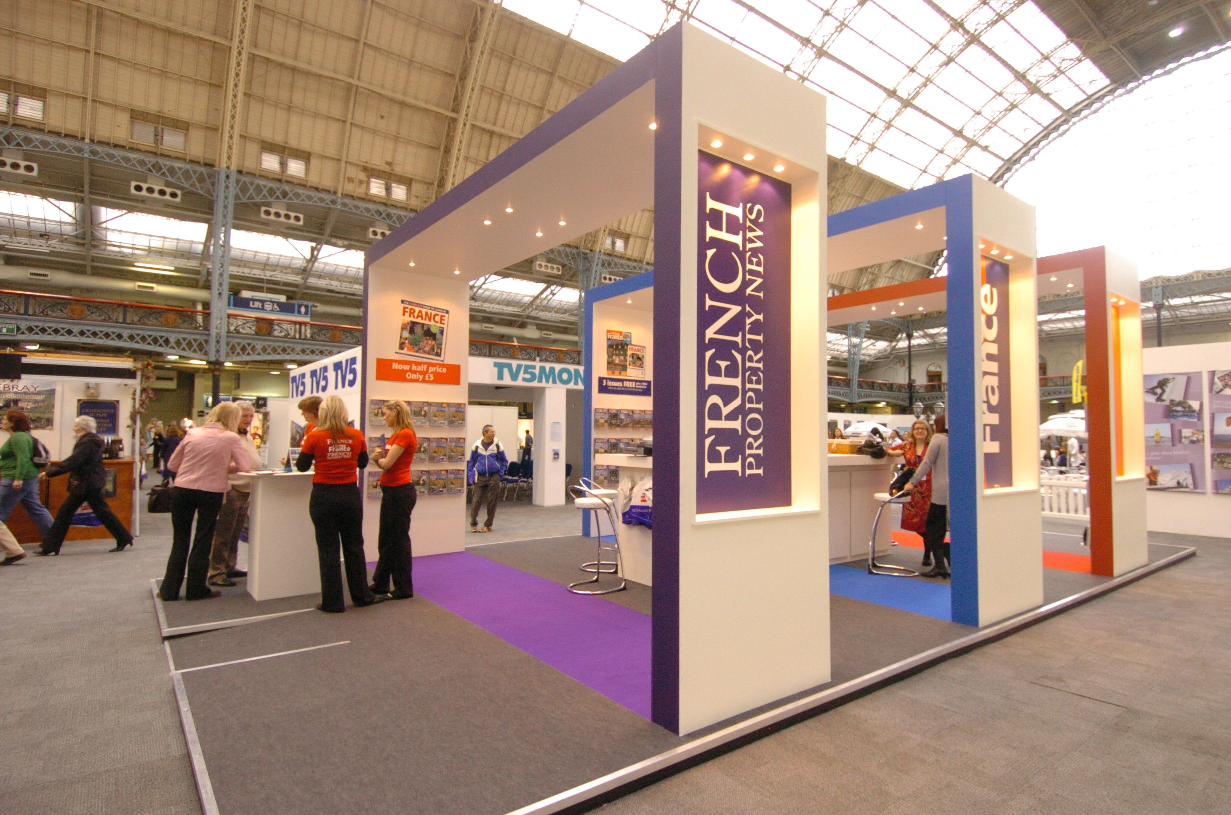 Exhibition Stand Builders France : Bespoke exhibition stand area french property exhibition shell