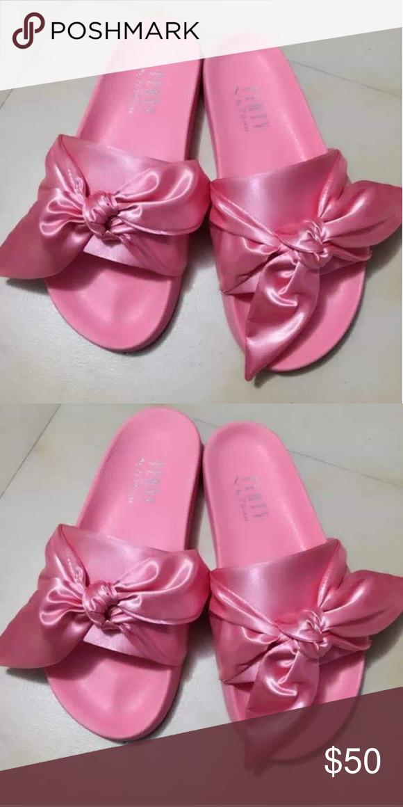 purchase cheap 4c6e9 284de Puma Shoes | Puma Fenty Rihanna Silk Spring Bow Slides ...