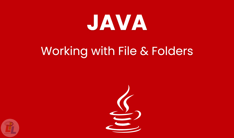 Working With Files Folders Java Java Programming Java Programming Language Java