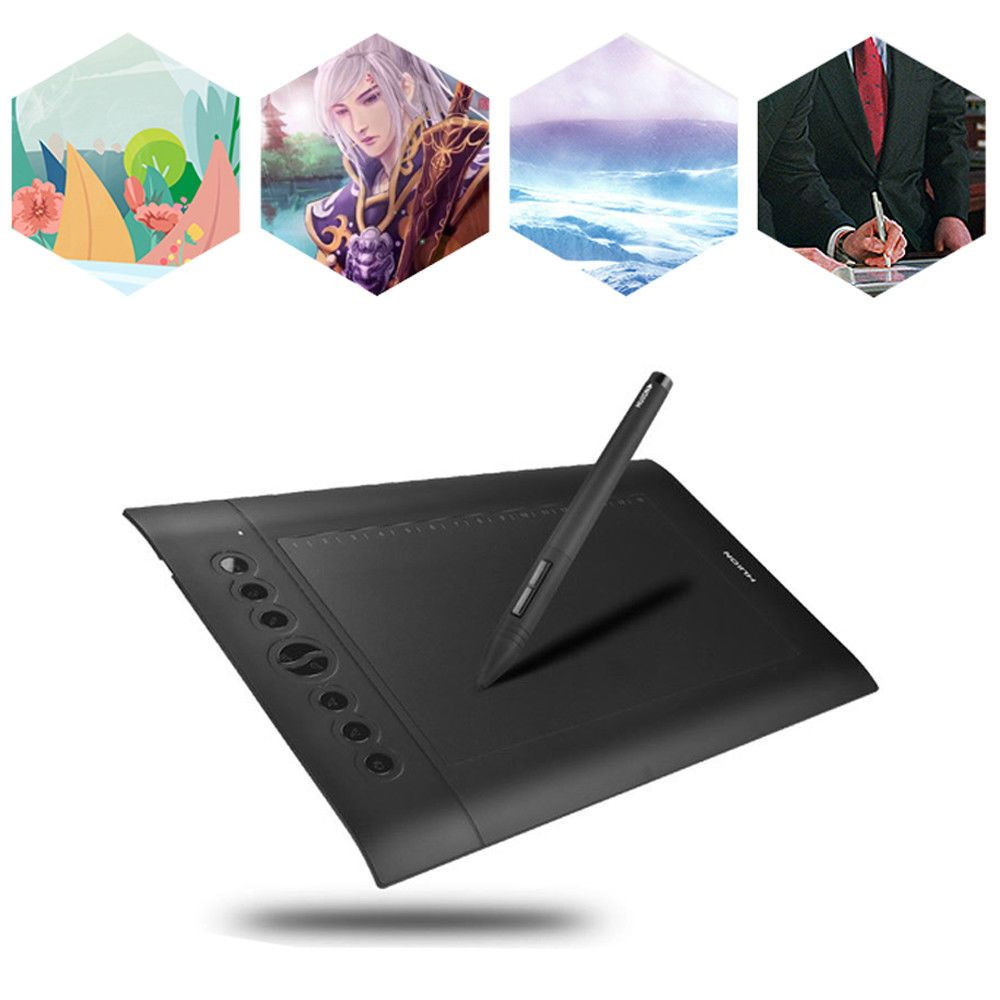 huion h610 professional 10 x6 25 art graphics drawing tablet for