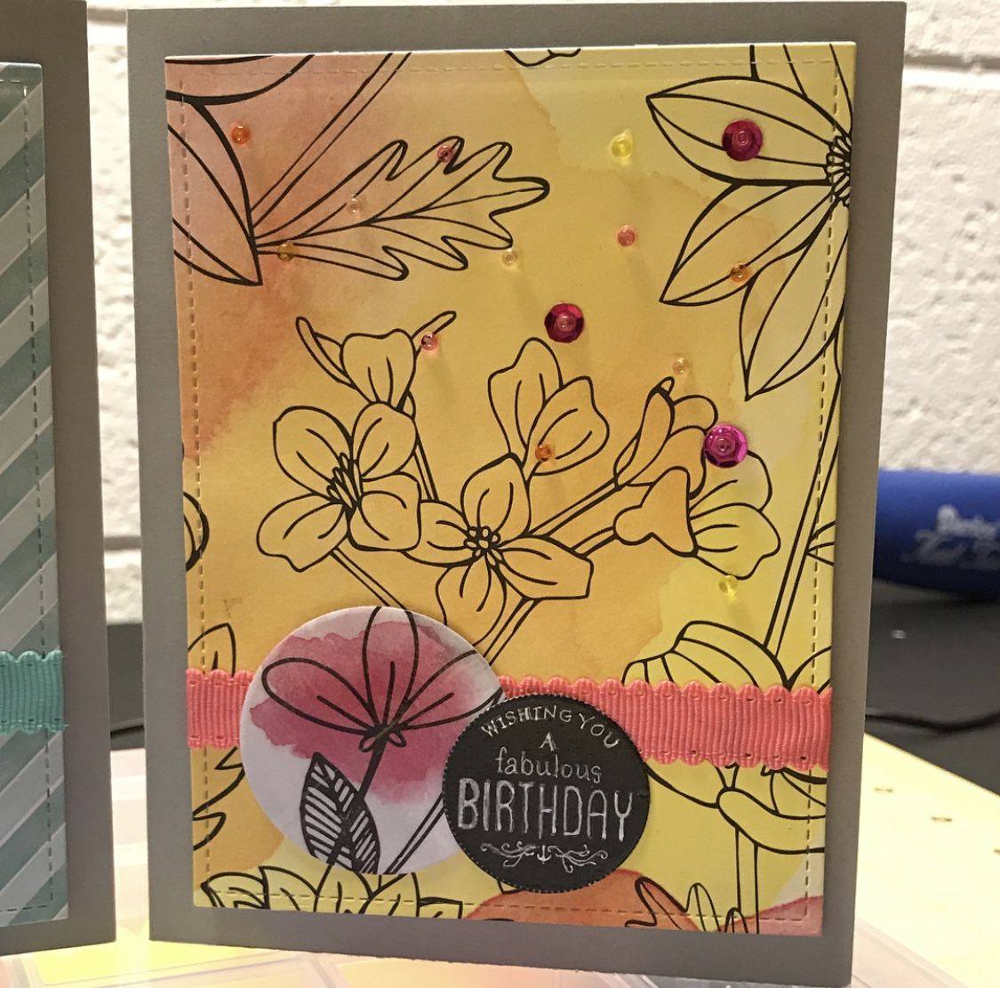 Clean And Simple Card Made Using Dollar Tree Supplies Happy