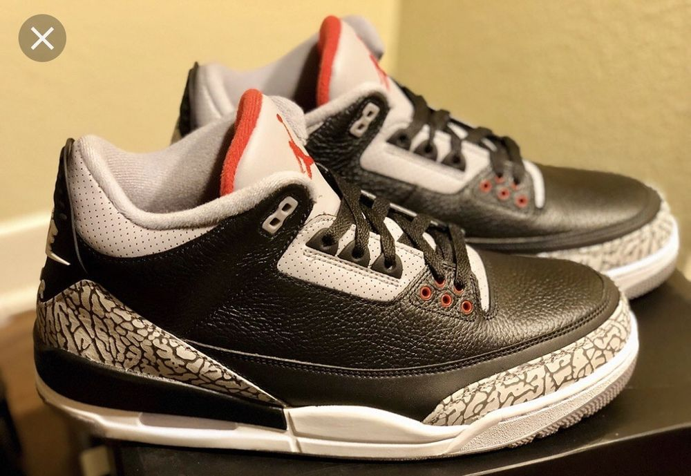Air Jordan 3 Black Cement 2018 Size 7y Fashion Clothing Shoes Accessories Mensshoes Athleticshoes Ebay Link Air Jordans Jordan 3 Black Cement Black Cement