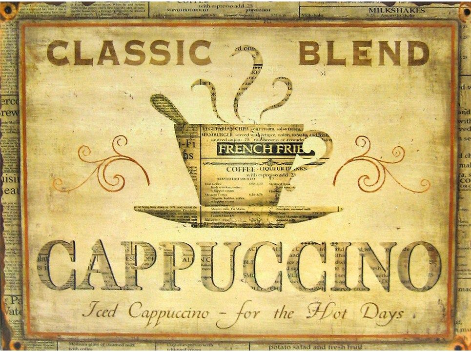 Cappuccino Tin Wall Sign | Art craft store, Wall signs, Craft stores