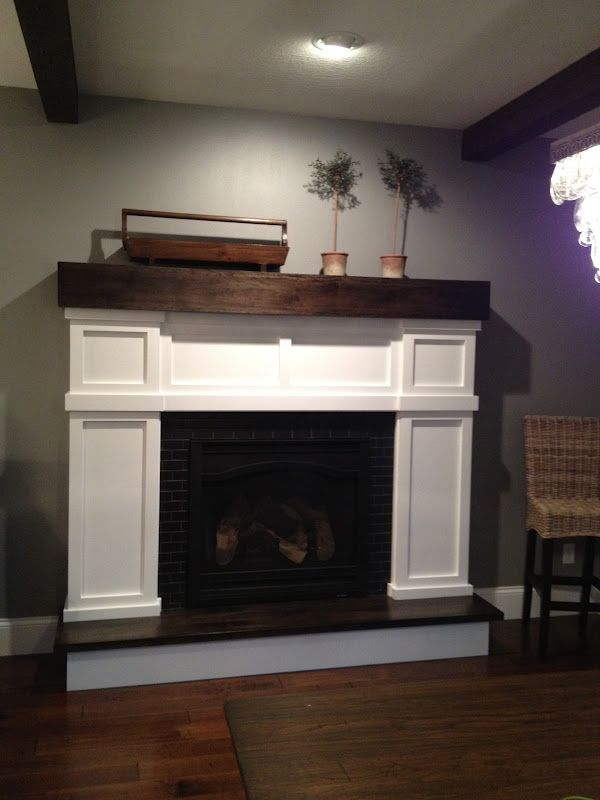 love the mantle and surround! | Faux fireplace diy, Home ...