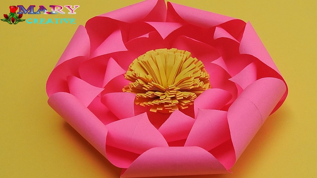 How To Make Paper Lotus Flower Simple And Easy To Make Lotus Flowe