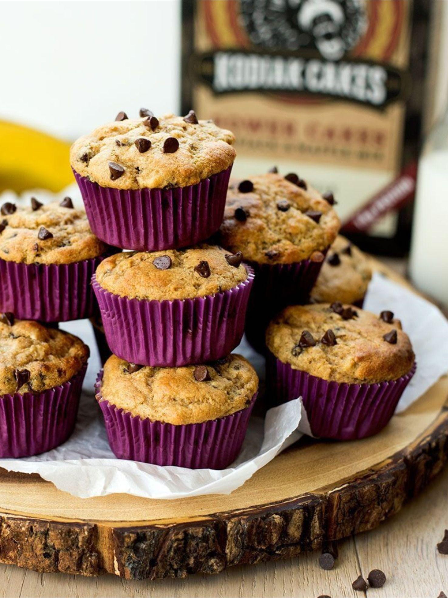 Banana chocolate chip power muffins kodiak cakes in 2020