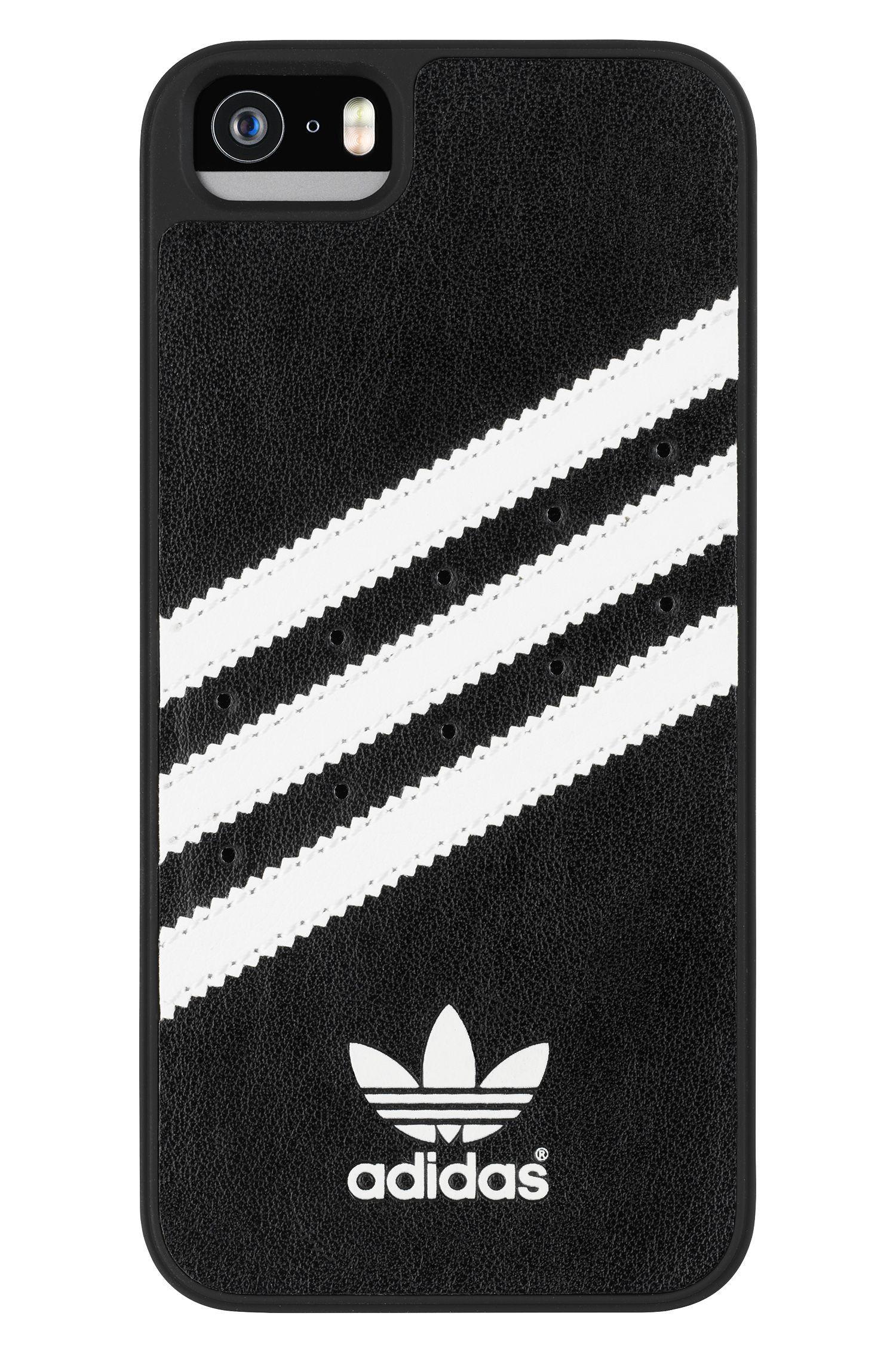 6384367718 Carcasa para iPhone 5 5S Adidas Moulded Negra y Blanca