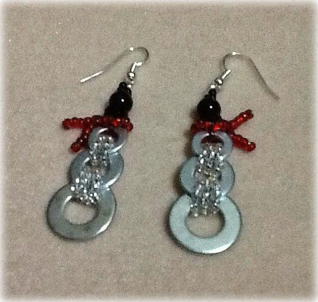 A Creative Princess Snowman Washer Earrings Diy Jewelry