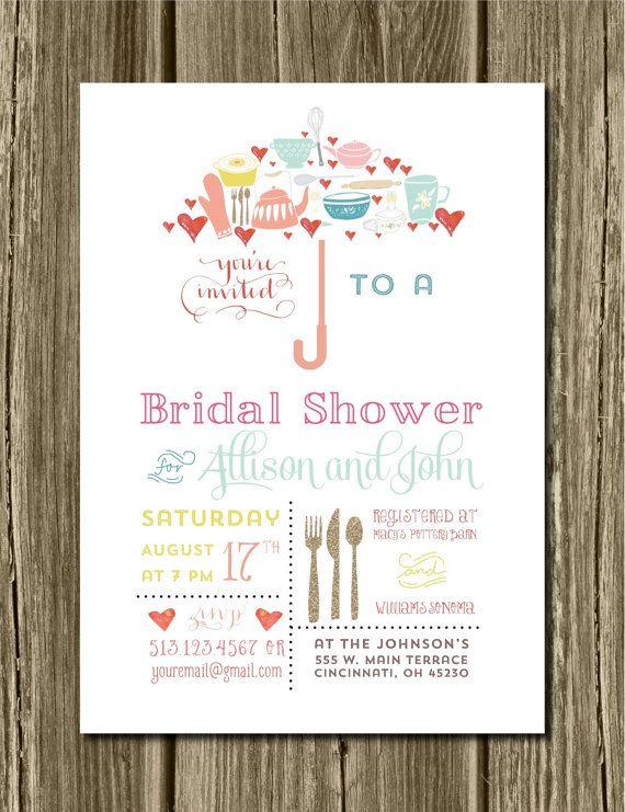 digital umbrella bridal shower invitations diy wedding bridal typography invite bridal shower unique bridal umbrella