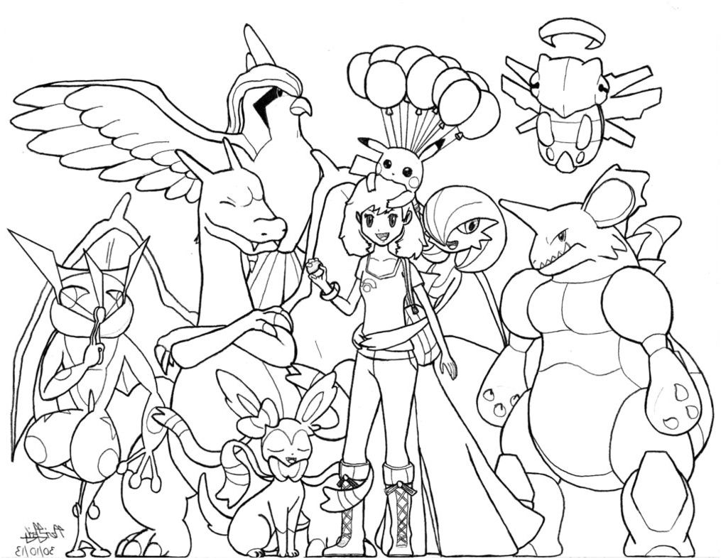 Coloriage Pokemon X Et Y Grenousse 11 Lunatique Coloriage