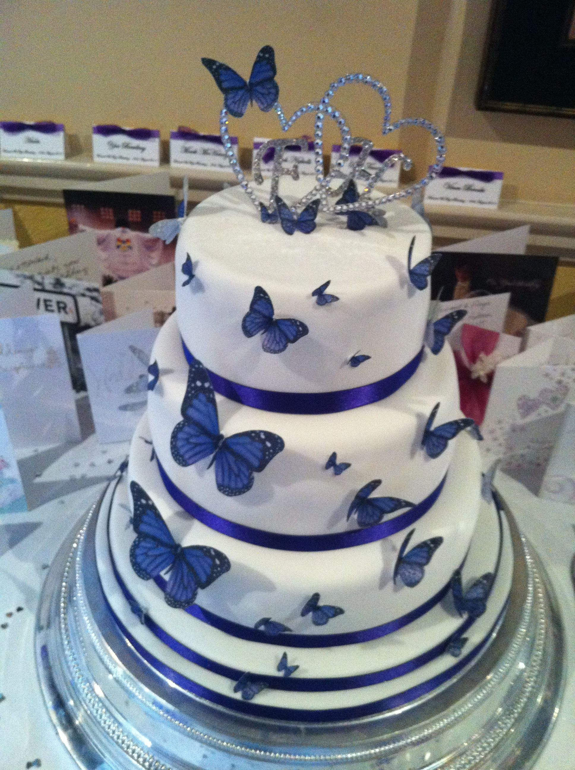 Butterfly Wedding Cake Made By Nanny Trishs Tasty Cakes