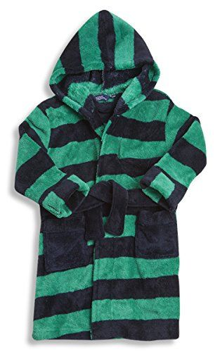 Childrens Kids Boys Infants Juniors Stripe Dressing Gown Https