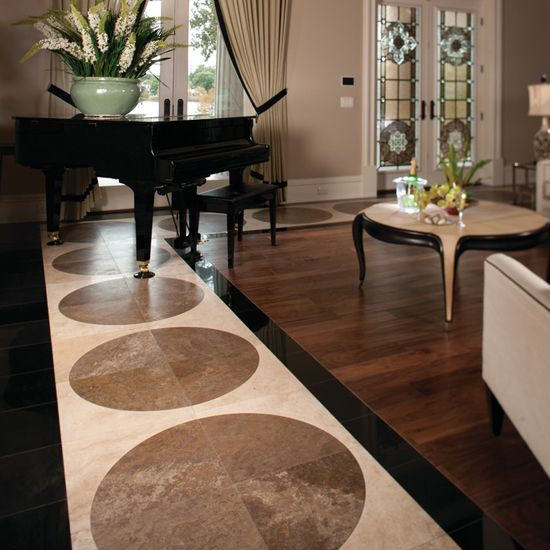 photo features absolute black granite polished mediterranean ivory travertine and caf au lait travertine on the floor