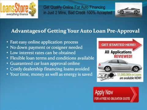 Car Loan Pre Approval With Bad Credit Car Loans Bad Credit Car Finance