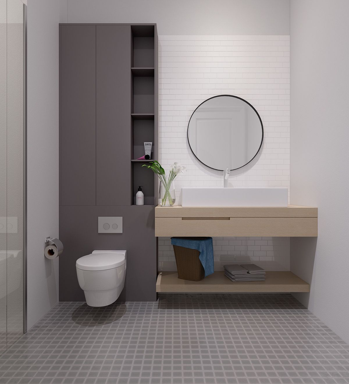 Bagno Design Redbrick Mill Bright Scandinavian Decor In 3 Small One Bedroom Apartments