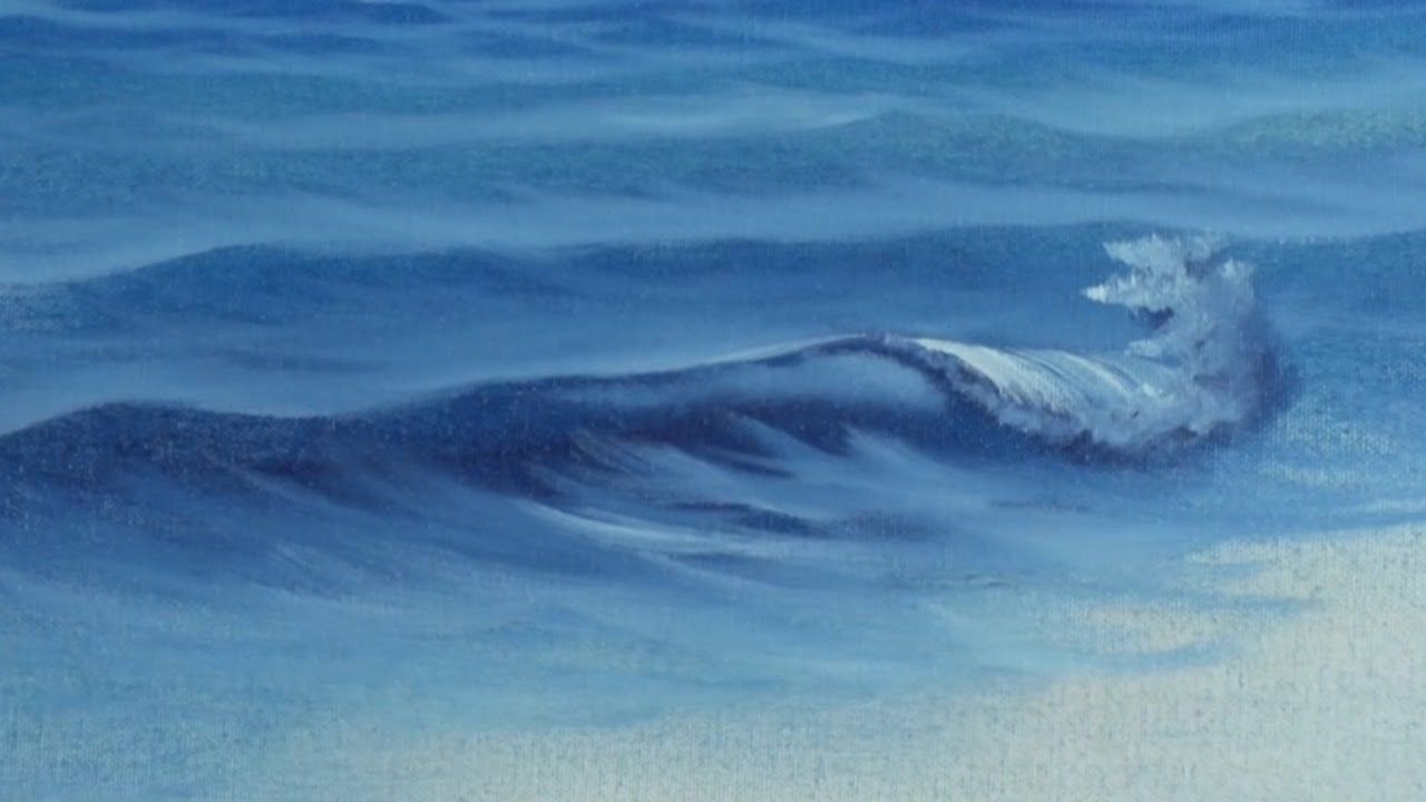 Fan Brush Sea - Painting Lesson | Painting | Painting ...