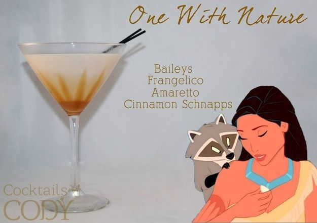 One With Nature: cinnamon schnapps, amaretto, hazelnut liqueur, Irish cream Garnish: caramel