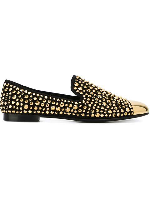Discount Shop Womens Giuseppe Zanotti Design Studded Slippers Lowest Price